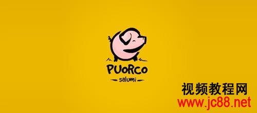 猪logo标志设计欣赏